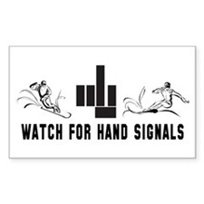 Watch For Hand Signals Rectangle Decal