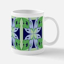 Abstract Floral Tiles Mug
