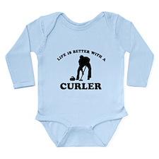 Curler vector designs Long Sleeve Infant Bodysuit
