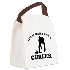 Curler vector designs Canvas Lunch Bag