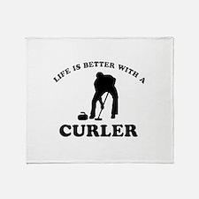 Curler vector designs Throw Blanket