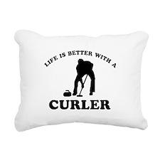 Curler vector designs Rectangular Canvas Pillow