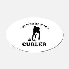 Curler vector designs Wall Decal