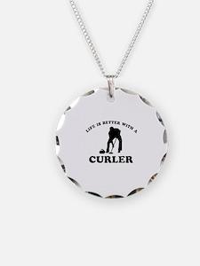 Curler vector designs Necklace