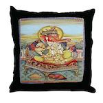 Ganesh Seated on Cushion Throw Pillow