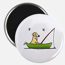 "Yellow Lab Fishing 2.25"" Magnet (10 pack)"