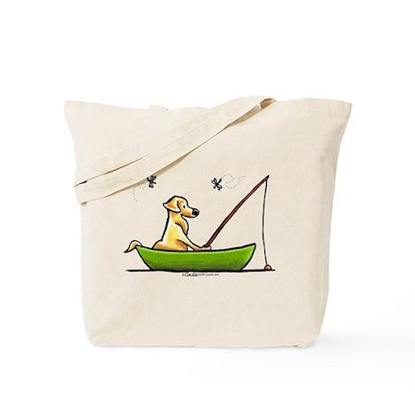 Yellow Lab Fishing Tote Bag