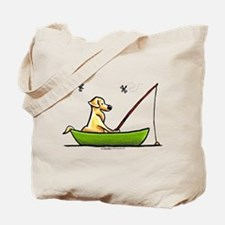 Yellow Lab Fishing Tote Bag
