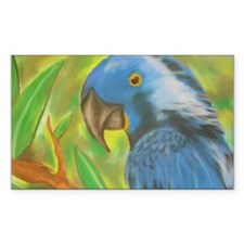 Blue Parrot Decal