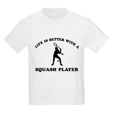 Squash Player vector designs T-Shirt