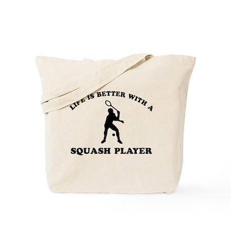 Squash Player vector designs Tote Bag