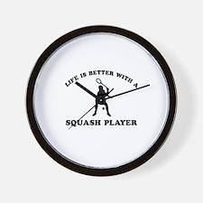 Squash Player vector designs Wall Clock