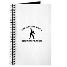 Squash Player vector designs Journal