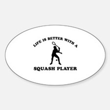 Squash Player vector designs Decal