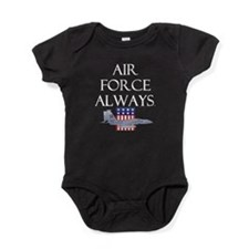 2-airforcealways.png Baby Bodysuit