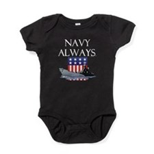 Navy Always Baby Bodysuit