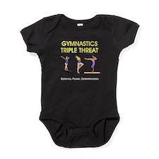 TOP Gymnastics Slogan Baby Bodysuit