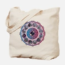 Starlight Zodiac Wheel Tote Bag