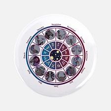 "Starlight Zodiac Wheel 3.5"" Button"