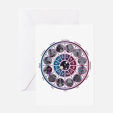 Starlight Zodiac Wheel Greeting Card
