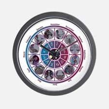 Starlight Zodiac Wheel Wall Clock