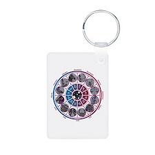 Starlight Zodiac Wheel Aluminum Photo Keychain