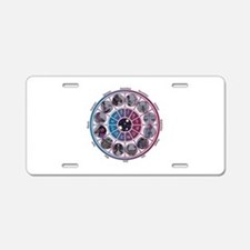 Starlight Zodiac Wheel Aluminum License Plate