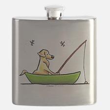 Yellow Lab Fishing Flask