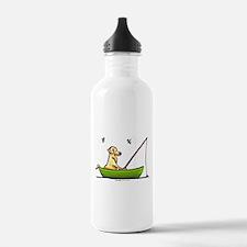 Yellow Lab Fishing Water Bottle