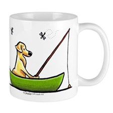 Yellow Lab Fishing Mug