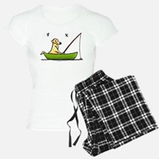 Yellow Lab Fishing Pajamas