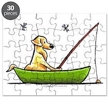 Yellow Lab Fishing Puzzle