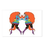 RAINBOW GALS Postcards (Package of 8)