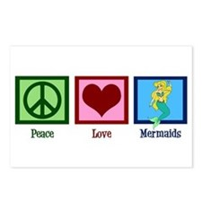 Peace Love Mermaids Postcards (Package of 8)