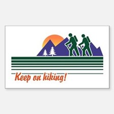 Keep on Hiking Rectangle Decal