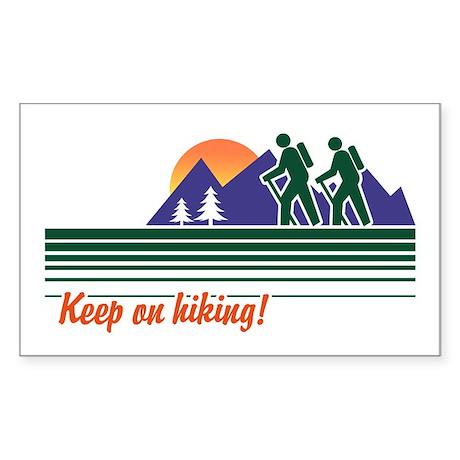 Keep on Hiking Rectangle Sticker