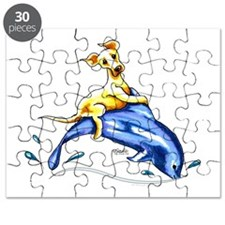 Yellow Lab Dolphin Puzzle