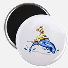 """Yellow Lab Dolphin 2.25"""" Magnet (10 pack)"""
