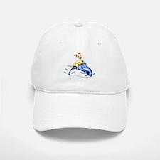 Yellow Lab Dolphin Baseball Baseball Cap