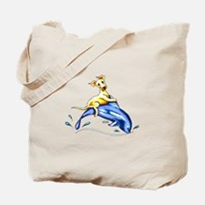 Yellow Lab Dolphin Tote Bag