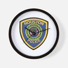 Houston Police Wall Clock