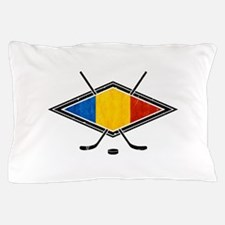 Romanian Ice Hockey Flag Pillow Case
