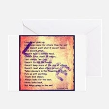 Message of Love Greeting Card