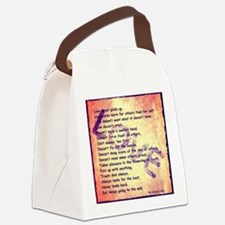 Message of Love Canvas Lunch Bag