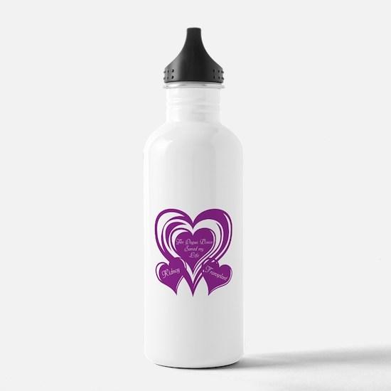 Purple love Triple Heart Water Bottle