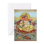 Ganesh Seated on Cushion Cards (Pk of 10)