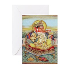 Ganesh Seated on Cushion Cards (Pk of 10)