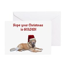 Golden Christmas Greeting Cards (Pk of 10)