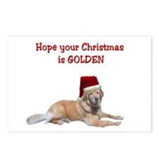 Golden Christmas Postcards (Package of 8)