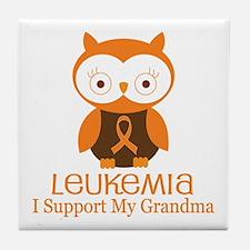 Grandma Leukemia Support Tile Coaster